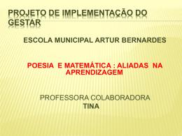 POEMA DA MATEMÁTICA Artur Bernardes Albertina