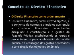 Conceito de Direito Financeiro Fazenda Pública