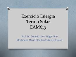 Exercício Energia Termo Solar EAM619