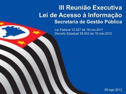 apresentação LAI - Blog de Fomento à Cultura de