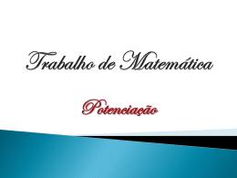 Trabalho de Matemática Miguel.