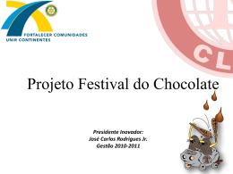 Presidente Inovador: José Carlos Rodrigues Jr. Gestão 2010-2011