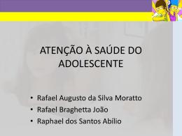 ATENÇÃO À SAÚDE DO ADOLESCENTE