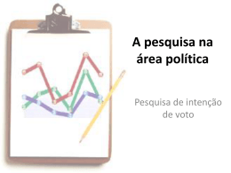 A pesquisa na área política
