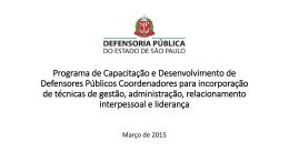 Programa de Capacitação e Desenvolvimento de
