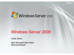 Visão Geral do Windows Server 2008