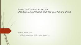 Estudo do Caderno 8 - PACTO