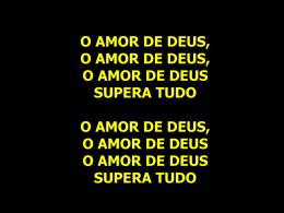 O Amor de Deus – Pe Cleidimar