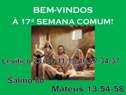 Mateus 13,54-58 - Comunidades.net