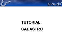 Cadastro - GPe-du