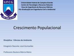 Crescimento Populacional - Área de Engenharia de Recursos