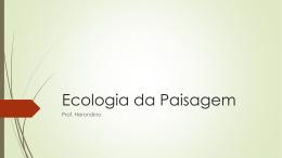 Ecologia da Paisagem – Tema 3