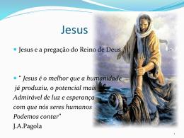 Jesus - Humano - CURSO DE TEOLOGIA PASTORAL