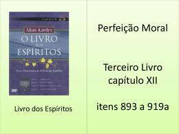 Perfeição Moral Terceiro Livro capítulo XII itens