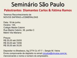 Palestrantes Diamantes Carlos & Fátima Ramos