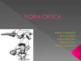 TEORIA CRÍTICA - WordPress.com
