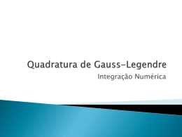 Quadratura de Gauss