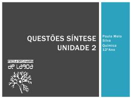 Questões – Unidade II