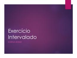 Exercício Intervalado