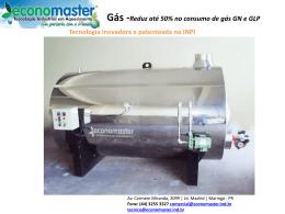 ECONOMASTER-Gás -Reduz em mais de 50% o consumo