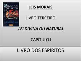 leis morais capítulo i livro terceiro a lei divina ou