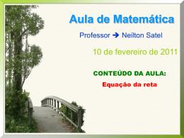 3º ANO COMETA 2011 – 1ª aula (1º bimestre)