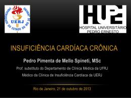 Sessão Clínica do Serviço de Cardiologia Síndrome Cardiorrenal