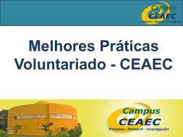 Melhores Práticas Voluntariado - CEAEC