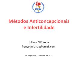 Métodos Anticoncepcionais e Infertilidade