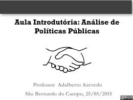 Conceitos e abordagens de políticas públicas