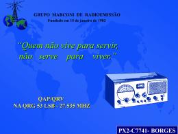 Palestra para radio operadores da Faixa do Cidadão.