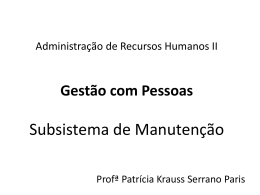 Remuneração - Profª Patrícia Paris
