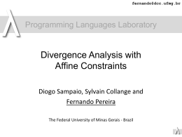 Divergence Analysis with Affine Constraints