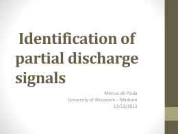 Identification of partial discharge signals