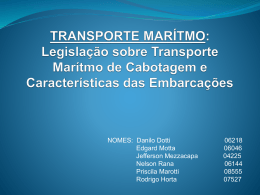 TRANSPORTE MARÍTMO: Legislação sobre Transporte Marítmo de