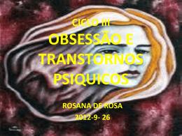 OBSESSAO E TRANSTORNOS PSIQUICOS