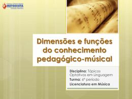 Dimensões e funções do conhecimento pedagógico