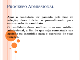 Processo Admissional