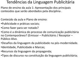 Tendências da Linguagem Publicitária
