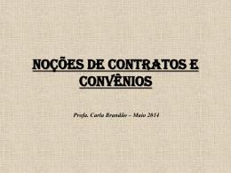 Noções de Contratos e Convênios