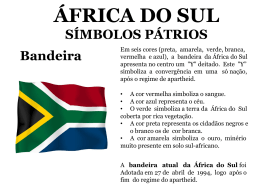 África do Sul -Slides da 1ª aula
