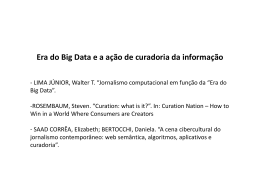 Era do Big Data e a ação de curadoria da