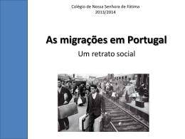 As migrações em Portugal