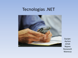 Tecnologias dotNet