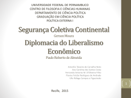 Apresentação – Política Externa I – Grupo 08