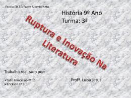ruptura e inovação literaria 2 recuperado
