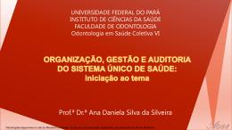 Aula 7 - Organização, Gestão e Auditoria do SUS