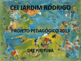 projeto pedagógico 2013