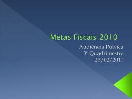 Metas Fiscais 2003