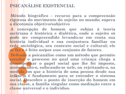 PSICANÁLISE EXISTENCIAL